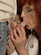 Three mature sluts share two hard cocks
