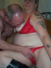 Chubby mature couple getting nasty and kinky