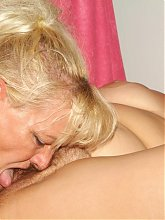 Naughty matures Elizabeth And Juliana engage in pussy licking and cock sucking in this threesome live