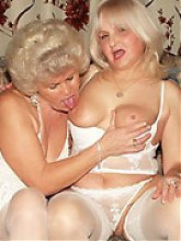 Nasty grannies Francesca and Erlene engage in pussy eating in this dirty lesbian scene